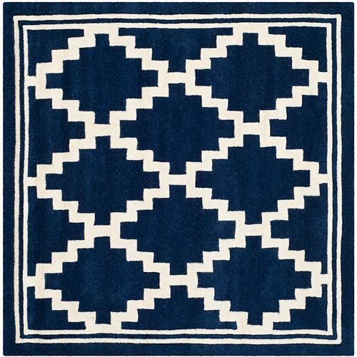 Safavieh Chatham Marcus Navy / Ivory 5 ft. x 5 ft. Indoor Square Area Rug
