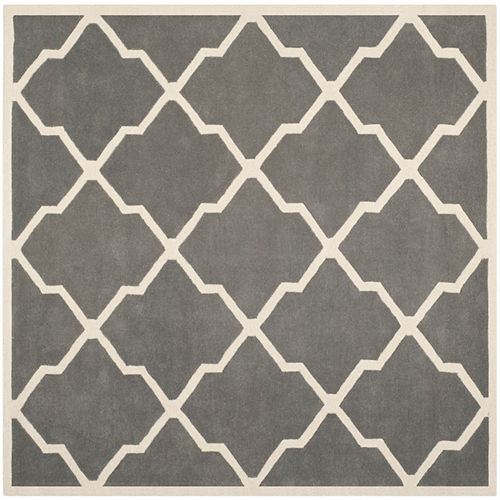 Safavieh Chatham Stephen Dark Grey / Ivory 5 ft. x 5 ft. Indoor Square Area Rug