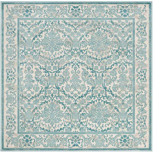 Safavieh Evoke Vince Ivory / Light Blue 6 ft. 7-inch x 6 ft. 7-inch Indoor Square Area Rug