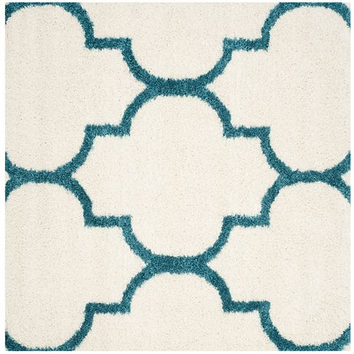 Safavieh Kids Shag Kite Ivory / Blue 6 ft. 7-inch x 6 ft. 7-inch Indoor Square Area Rug