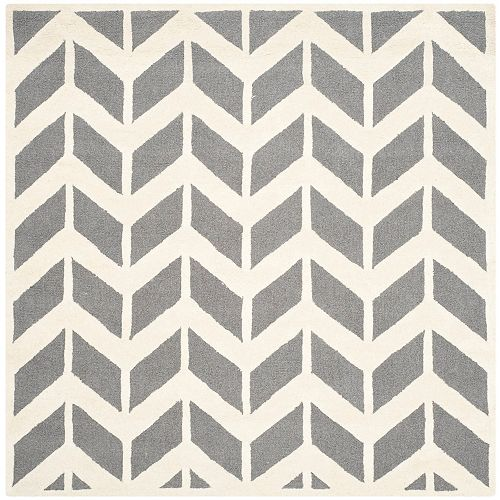 Safavieh Cambridge Pharah Dark Grey / Ivory 6 ft. x 6 ft. Indoor Square Area Rug