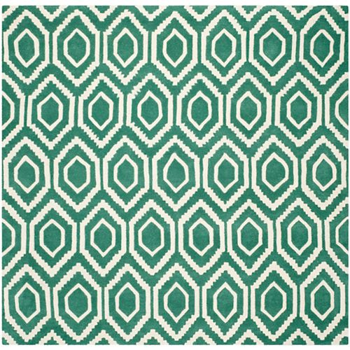 Safavieh Chatham Beau Teal / Ivory 7 ft. x 7 ft. Indoor Square Area Rug