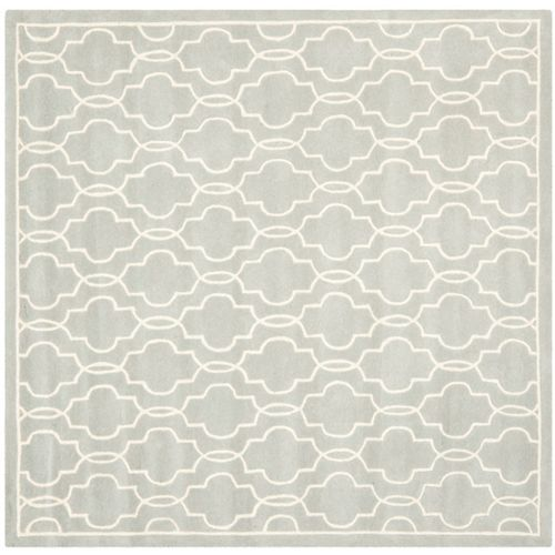 Safavieh Chatham Pascal Grey / Ivory 7 ft. x 7 ft. Indoor Square Area Rug