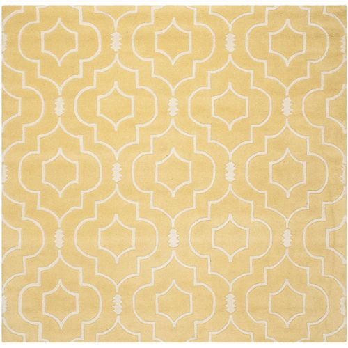 Safavieh Chatham Romain Light Gold / Ivory 7 ft. x 7 ft. Indoor Square Area Rug