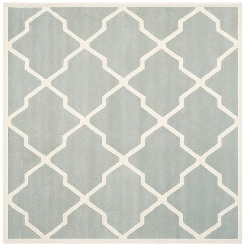 Safavieh Chatham Stephen Grey / Ivory 8 ft. 9-inch x 8 ft. 9-inch Indoor Square Area Rug