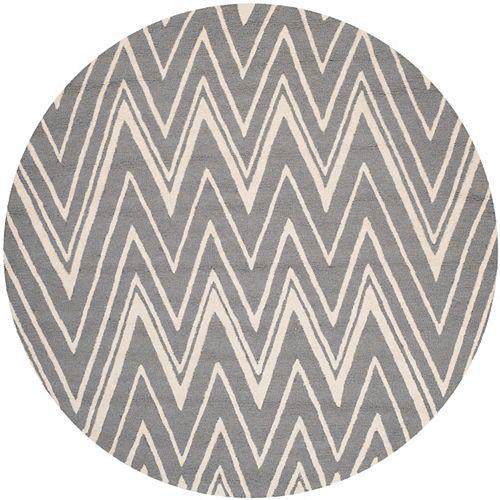 Safavieh Cambridge Chenny Dark Grey / Ivory 4 ft. x 4 ft. Indoor Round Area Rug