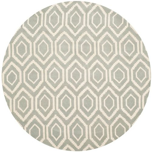 Safavieh Chatham Beau Grey / Ivory 4 ft. x 4 ft. Indoor Round Area Rug