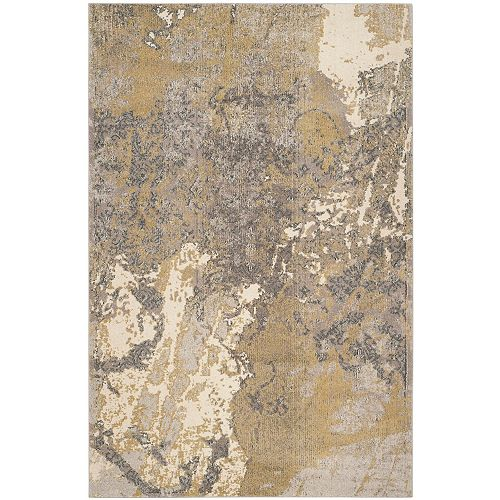 Tapis d'intérieur, 6 pi 7 po x 9 pi 2 po, Monaco Xerxes, ivoire / gris