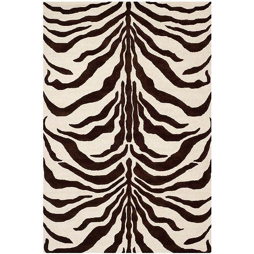 Safavieh Tapis d'intérieur, 6 pi x 9 pi, Cambridge Dae, ivoire / brun