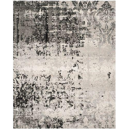 Tapis d'intérieur, 8 pi 9 po x 12 pi, Retro Mitchell, gris clair / gris