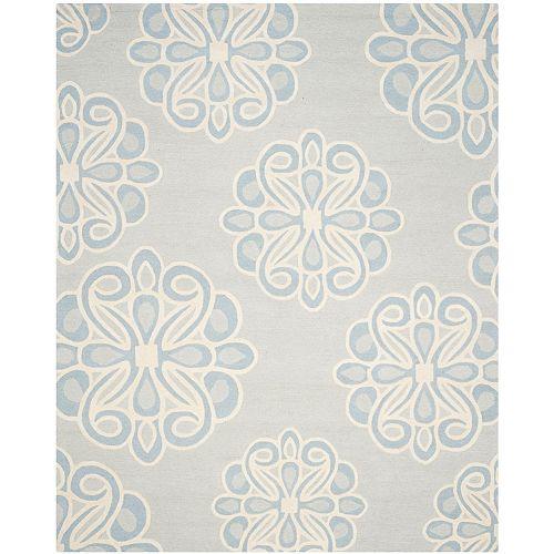 Safavieh Tapis d'intérieur, 8 pi x 10 pi, Cambridge Braxton, gris / bleu