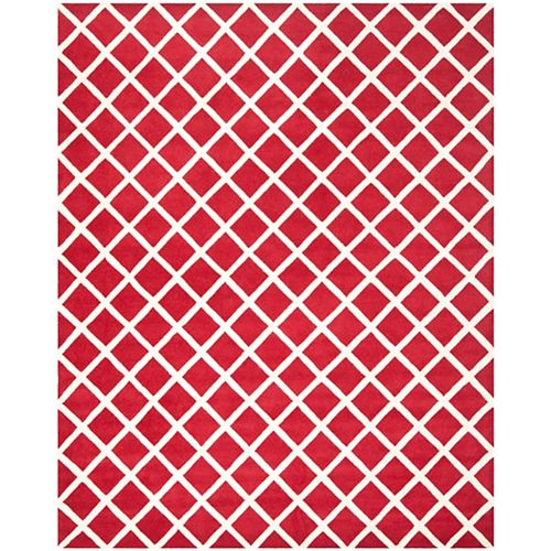 Safavieh Chatham Lily Red / Ivory 8 ft. x 10 ft. Indoor Area Rug