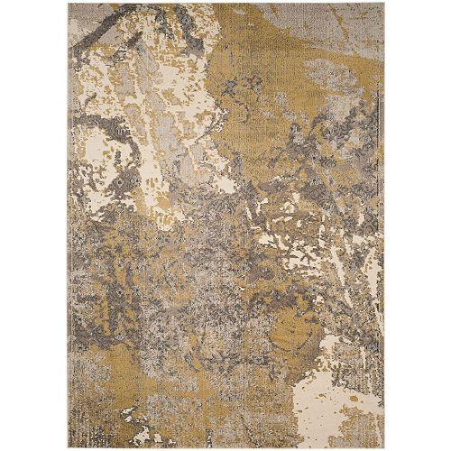 Tapis d'intérieur, 8 pi x 11 pi, Monaco Xerxes, ivoire / gris
