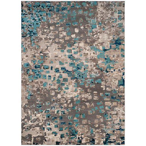 Tapis d'intérieur, 8 pi x 11 pi, Monaco Zoey, gris / bleu clair