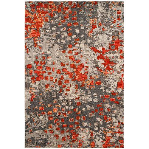 Tapis d'intérieur, 8 pi x 11 pi, Monaco Zoey, gris / orange