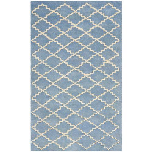 Safavieh Tapis d'intérieur, 3 pi x 5 pi, Chatham Adam, bleu gris