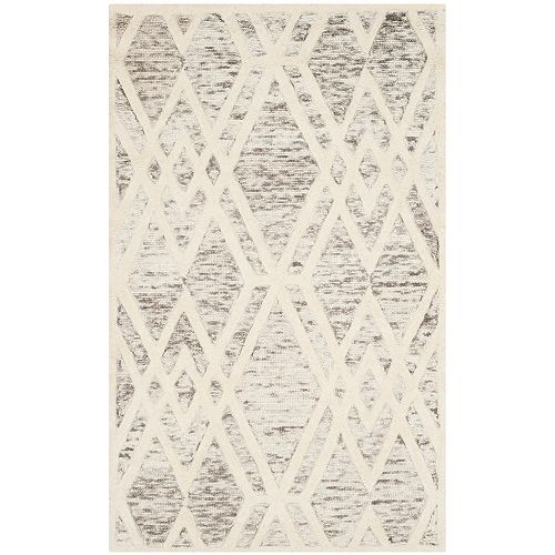 Safavieh Tapis d'intérieur, 4 pi x 6 pi, Cambridge Lem, brun clair / ivoire