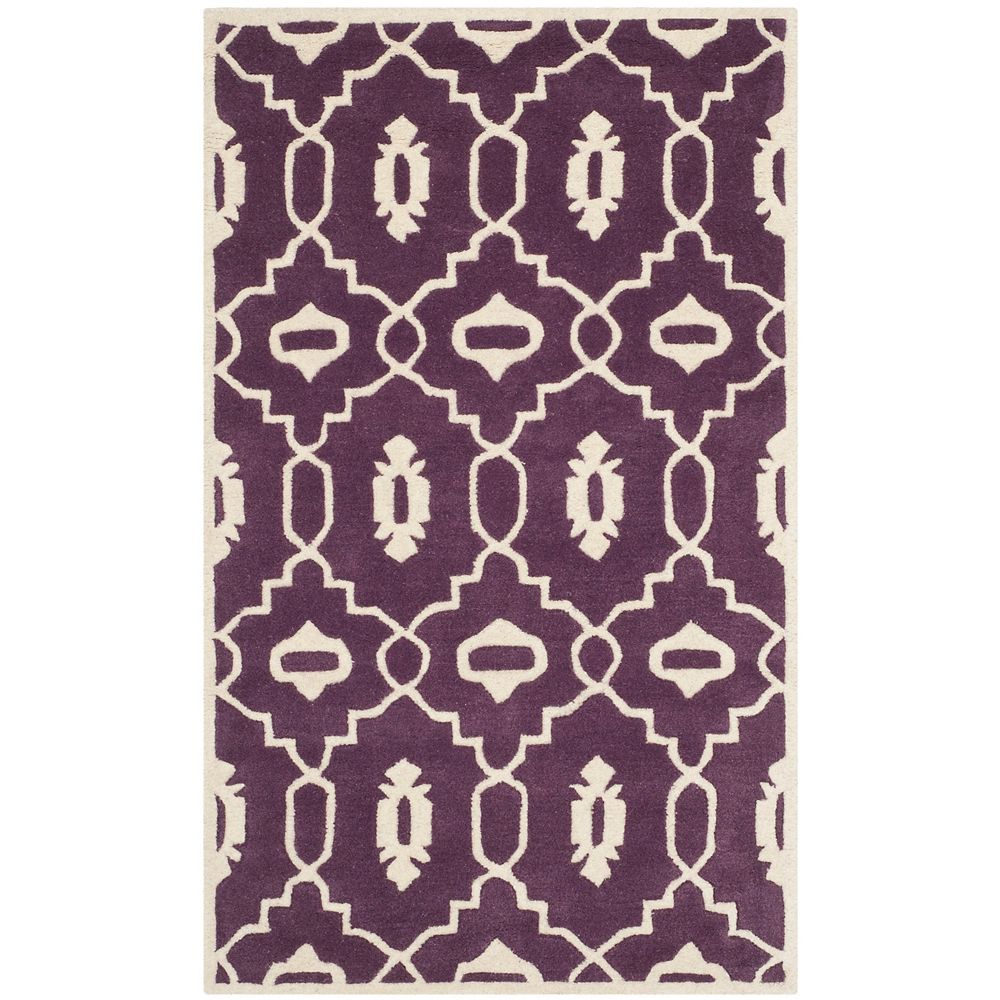 Safavieh Chatham Chloe Purple Ivory 4 Ft X 6 Ft Indoor Area Rug The Home Depot Canada