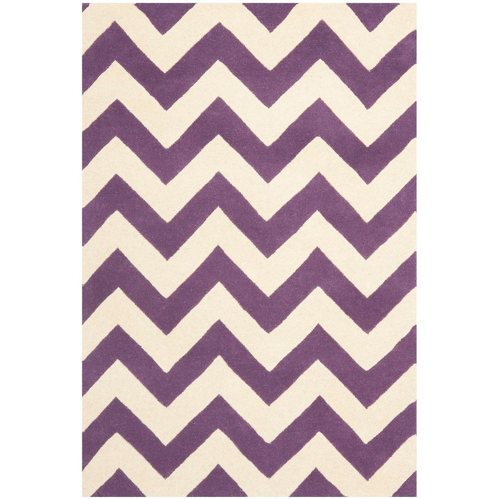 Safavieh Chatham Lara Purple Ivory 4 Ft X 6 Ft Indoor Area Rug The Home Depot Canada