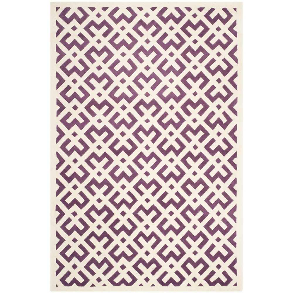 Safavieh Chatham Oakly Purple Ivory 4 Ft X 6 Ft Indoor Area Rug The Home Depot Canada