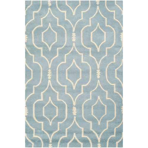 Safavieh Chatham Romain Blue / Ivory 4 ft. x 6 ft. Indoor Area Rug