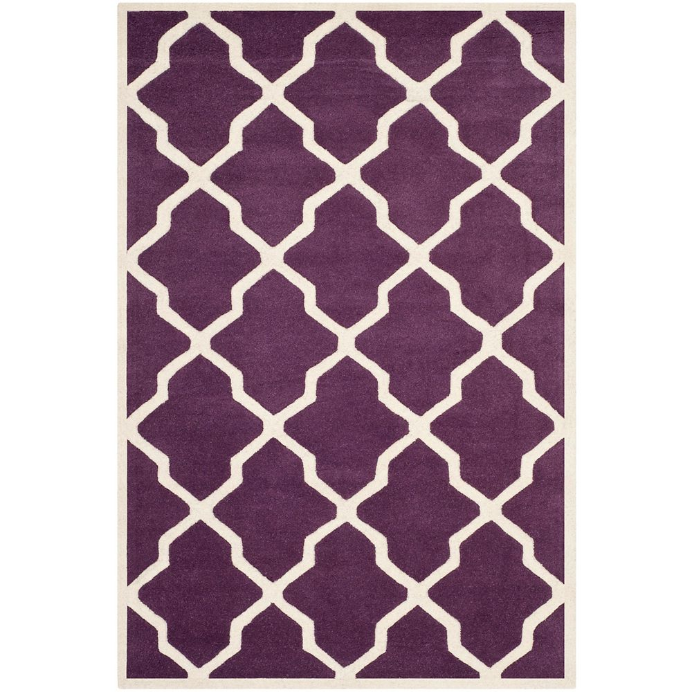 Safavieh Chatham Stephen Purple Ivory 4 Ft X 6 Ft Indoor Area Rug The Home Depot Canada