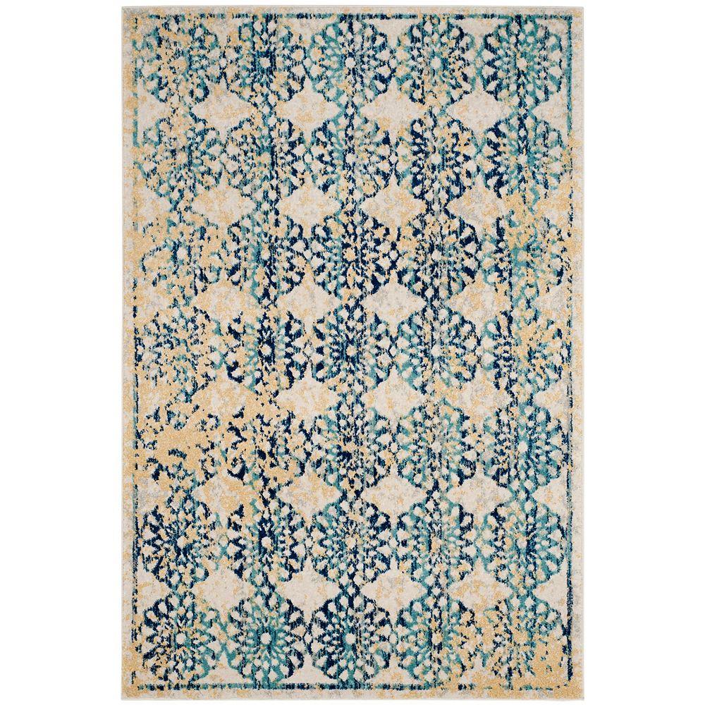 Safavieh Evoke Leah Ivory / Blue 4 ft. x 6 ft. Indoor Area Rug