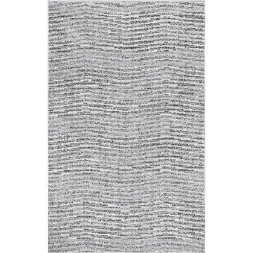 Tapis d'intérieur, 8 pi 2 po x 11 pi 6 po, Sherill, gris