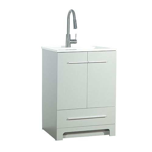 25-inch Laundry Cabinet in Grey