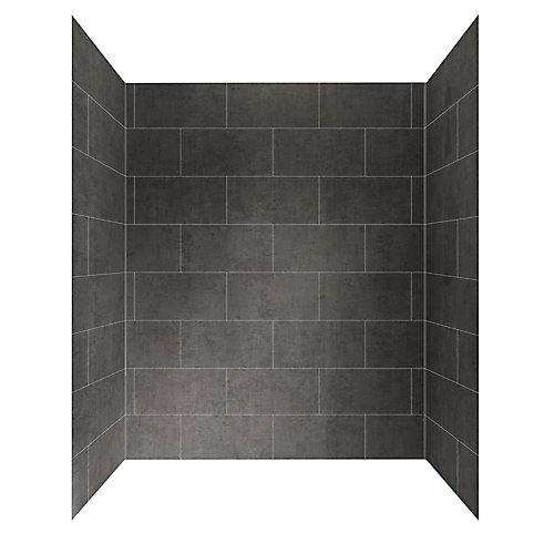 Panneau mural de douche, 60po x 32po, gris ardoise