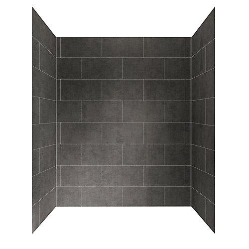 60 inch X 32 inch Shower Wall System in Slate Grey