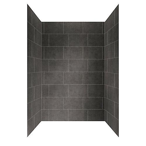 Panneau mural de douche, 48po x 32po, gris ardoise