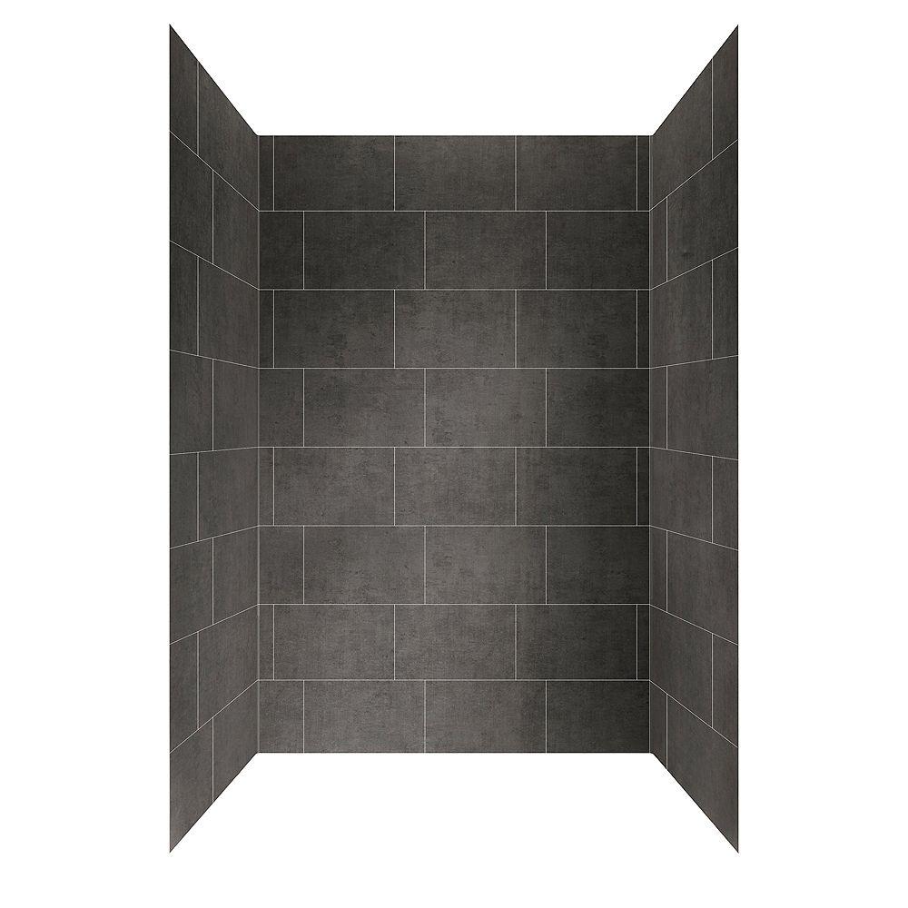 glacier bay 48 inch x 32 inch shower wall system in slate