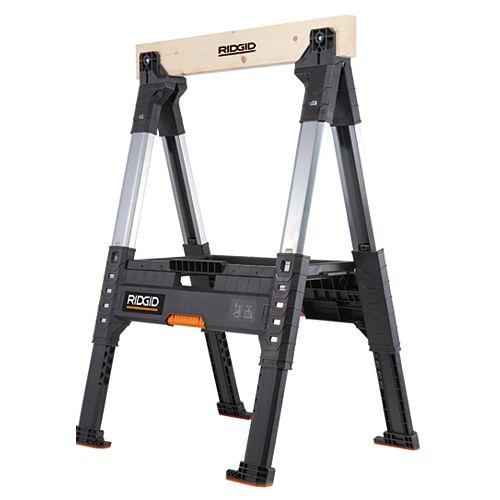 RIDGID 32-inch Adjustable Folding Sawhorse