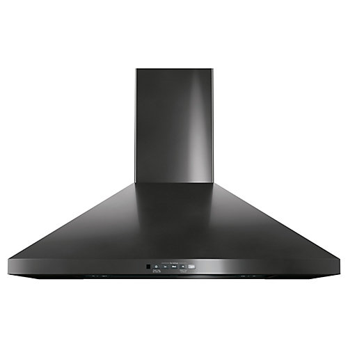 30-inch Wall-Mount Pyramid Chimney Hood - Black Stainless