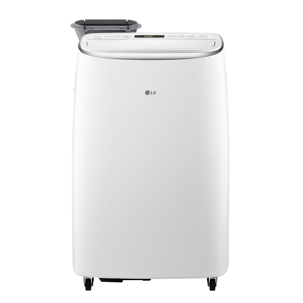 LG Electronics Climatiseur portable Wi-Fi intelligent de 14 000 BTU (10 000 DOE) à double onduleur de 115 volts avec télécommande