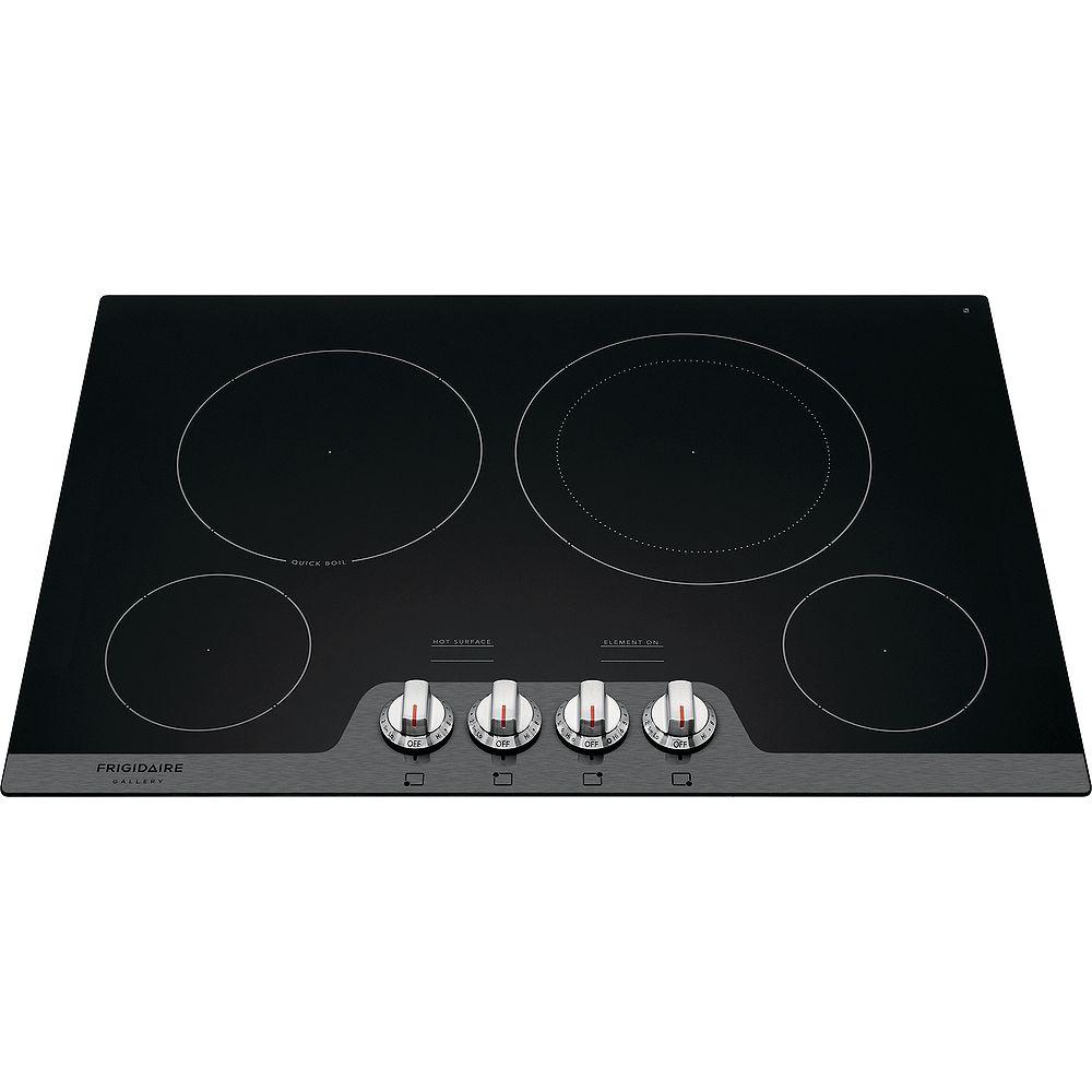 Frigidaire Gallery Table de cuisson électrique lisse radiante de 30 pouces avec 4 éléments en acier inoxydable