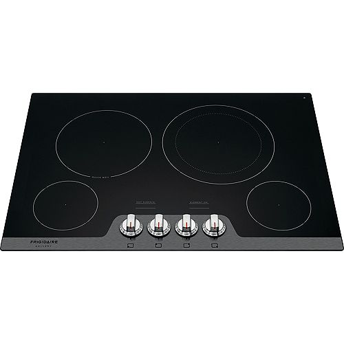 30-inch Radiant Smooth Electric Cooktop with 4 Elements in Black Stainless Steel