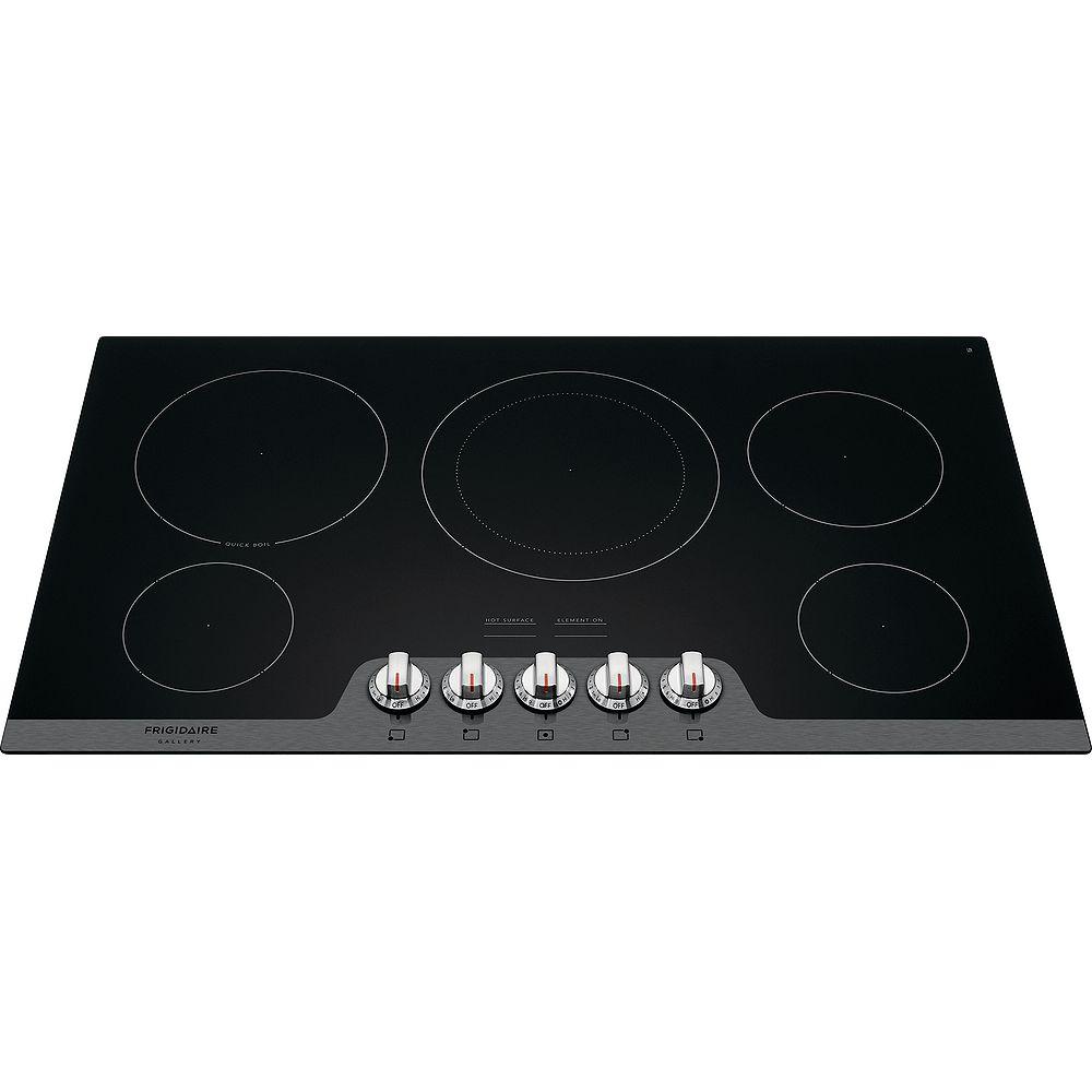 Frigidaire Gallery Table de cuisson électrique radiante de 36 po en acier inoxydable avec 5 éléments