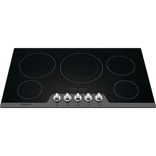 36-inch Radiant Electric Cooktop in Stainless Steel with 5 Elements