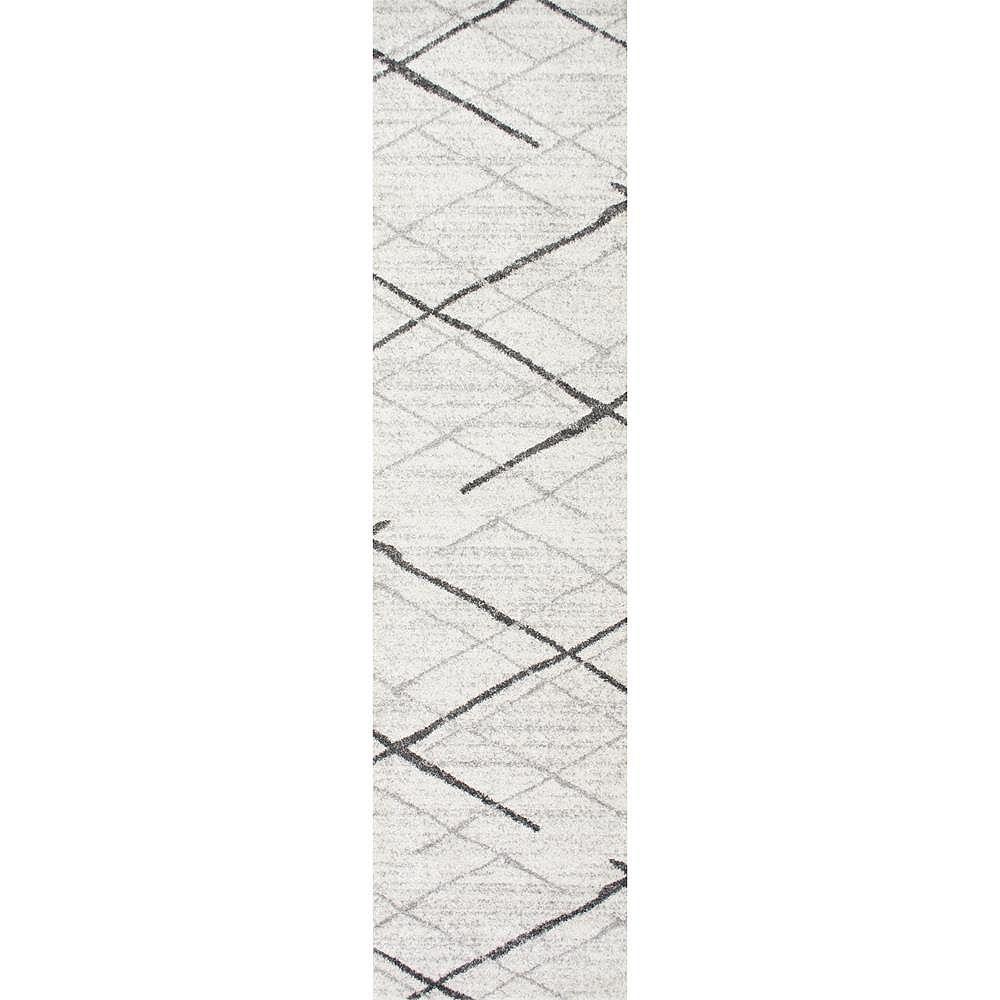 nuLOOM Thigpen Grey 2 ft. 5-inch x 9 ft. 5-inch Indoor Runner