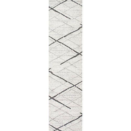 Thigpen Grey 2 ft. 5-inch x 9 ft. 5-inch Indoor Runner