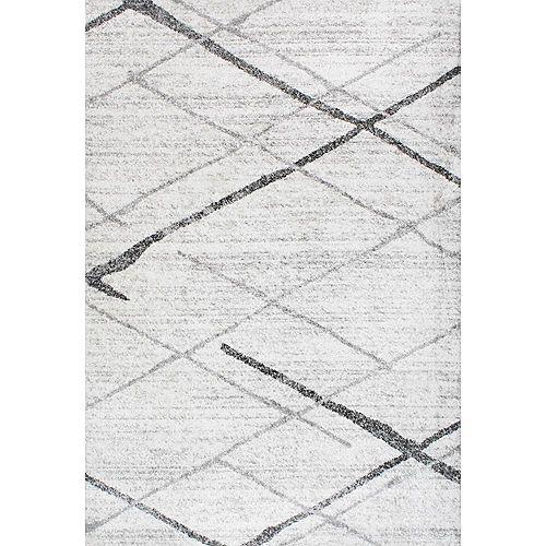 Tapis d'intérieur, 3 pi x 5 pi, Thigpen, gris