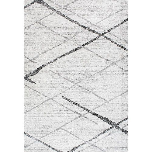 Tapis d'intérieur, 8 pi 2 po x 11 pi 6 po, Thigpen, gris
