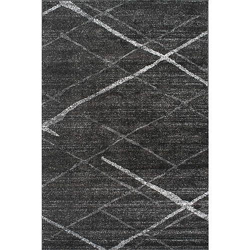 Tapis d'intérieur, 9 pi x 12 pi, Thigpen, gris foncé