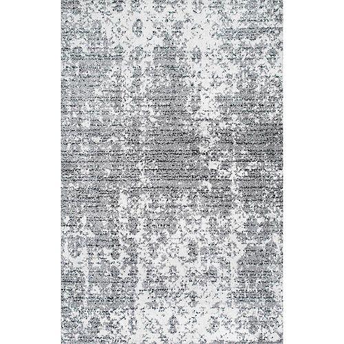 Tapis d'intérieur, 6 pi 7 po x 9 pi, Deedra, gris