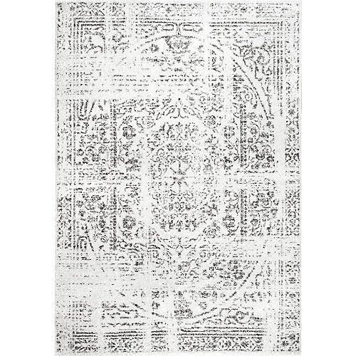 Tapis d'intérieur d'époque Arlena, 9 pi x 12 pi, gris