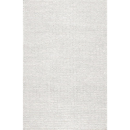 Hand Woven Chunky Woolen Cable Rug Off-White 5 ft. x 8 ft. Indoor Area Rug
