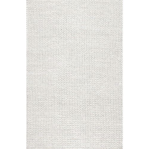 Hand Woven Chunky Woolen Cable Rug Off-White 6 ft. Indoor Square Rug
