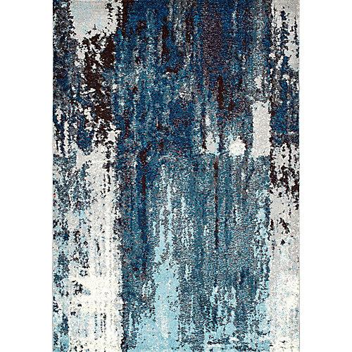 Abstract Haydee Blue 9 ft. x 12 ft. Indoor Area Rug